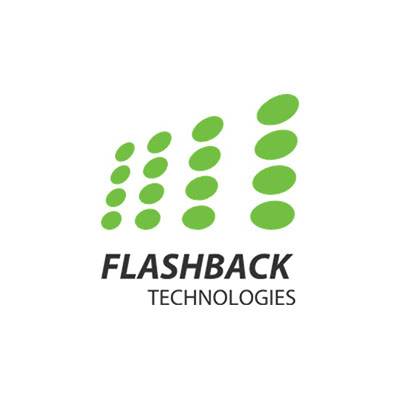 green and black flashback technologies logo