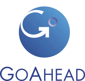 blue and white goahead logo
